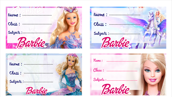 Custom Name School Waterproof Disney Princess Label For Girls