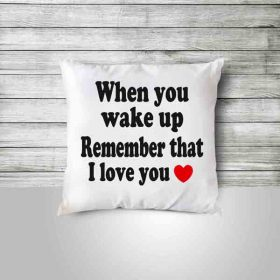 Custom Pillow with Gift Message