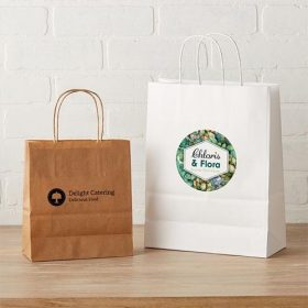 Design Photo Printed Custom Paper Bag for business branding Kuwait with handle