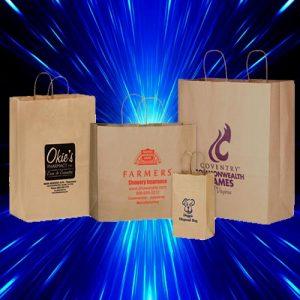 Design Photo Printed Custom Paper Bag for business branding Kuwait No handles