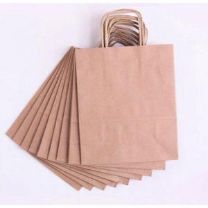 Design Photo Printed Custom Paper Bag for business branding Kuwait Brown