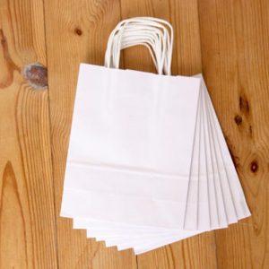 White Custom Paper Bag Kuwait