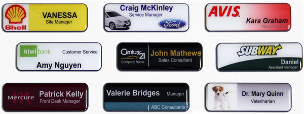 Create your own custom name badges and corporate badges online