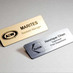 personalized printed metal plate badges in Kuwait