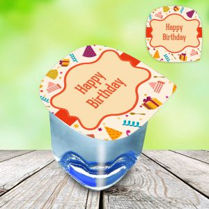 customised water cups labels birthday